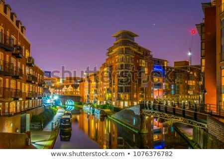 Notte canale acqua città orizzonte spiaggia Foto d'archivio © Aliftin