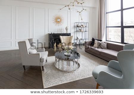ouro · quadro · velho · interior · luxuoso · mobiliário - foto stock © victoria_andreas
