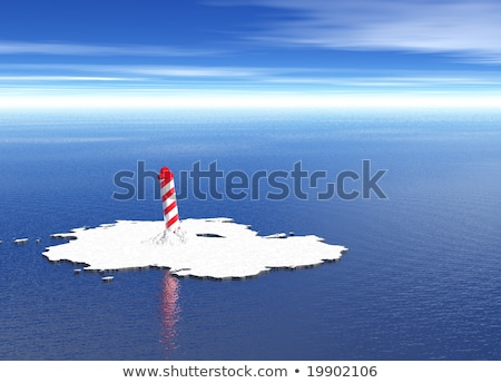 Spiral North Pole on Melted Icecap Stock photo © bobbigmac