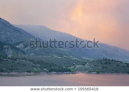 Incendios forestales humo fuerte Colorado pesado alto Foto stock © PixelsAway
