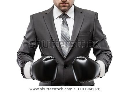 jovem · empresário · luvas · de · boxe · negócio · homem · de · negócios · terno - foto stock © photography33