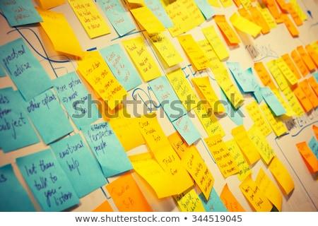 lijst · Blackboard · school · concept · negatieve - stockfoto © bbbar