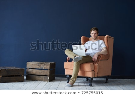 cool fashion business man sitting Stock photo © feedough