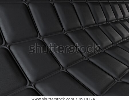 Incurved Leather Pattern With Rectangle Segments Stok fotoğraf © Arsgera