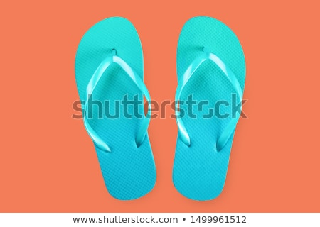 red and blue flip flop sandals isolated Stock photo © shutswis