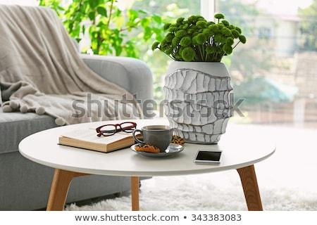 Mesa de café tabela casa café janela Foto stock © zittto