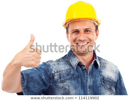 a male construction worker making a hand sign stock photo © photography33