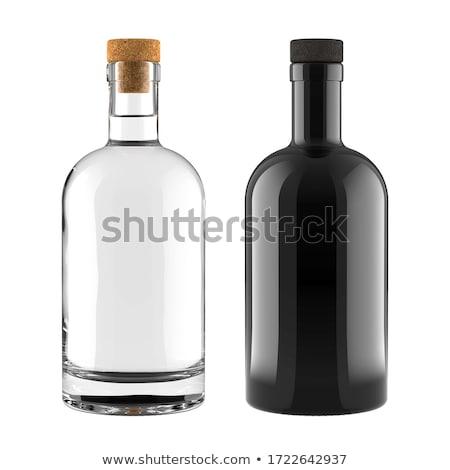 Botella vodka aislado blanco diseno azul Foto stock © ozaiachin