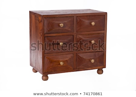little apothecary antique oak chest of drawers stock photo © ozaiachin
