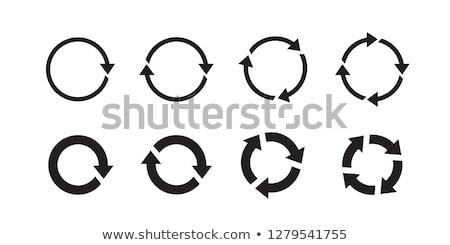 Abstract recycleren icon business ontwerp teken Stockfoto © rioillustrator