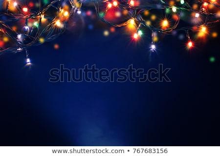brillante · blu · Natale · albero · neve · ghiaccio - foto d'archivio © franky242