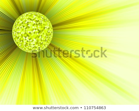 yellow disco ball with a copyspace eps 8 stock photo © beholdereye