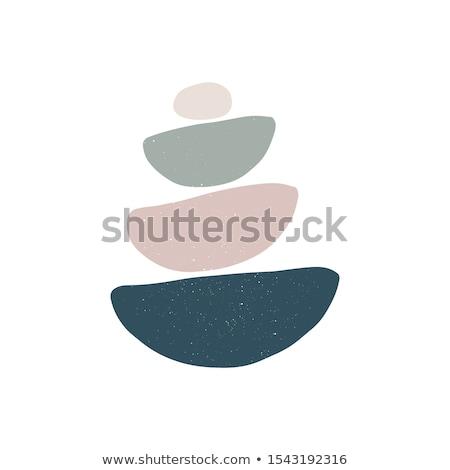 rotsen · strand · zee · ontwerp - stockfoto © ssilver