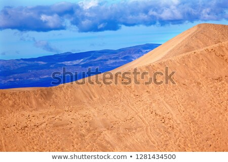 Large Sand Dune Mesquite Flat Dunes Grapevine Mountains Death Va Stock photo © billperry