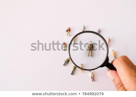 Carreira recrutamento emprego humanismo cabeça ícones Foto stock © Lightsource