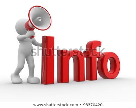 3d People Info With Megaphone Stock fotó © CoraMax