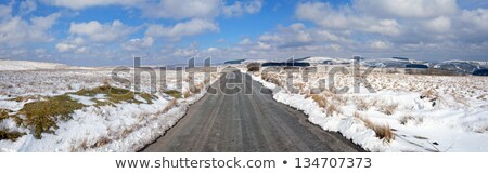 Hiver neige panorama pays de galles ciel Photo stock © latent