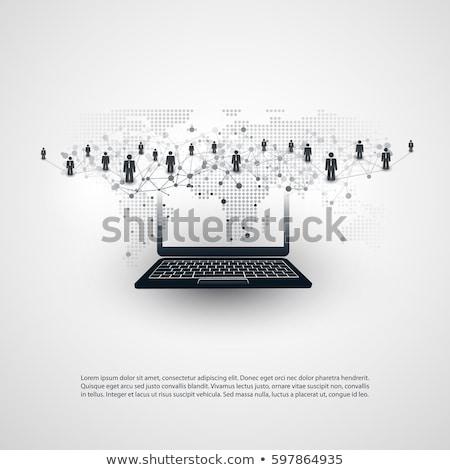 adatbiztonság · globális · kommunikáció · illusztráció · terv · fehér · üzlet - stock fotó © 4designersart