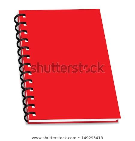 Anillo libro cuaderno aislado blanco Foto stock © posterize