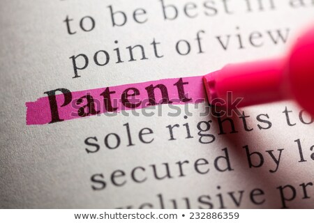 The word patent highlighted in a dictionary stock photo © sqback