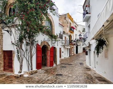 street of old town of ibiza town balearic islands spain stock photo © nito