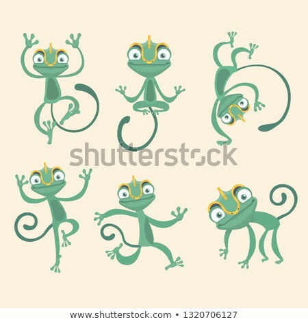 cute · hagedis · cartoon · geïsoleerd · illustratie - stockfoto © lenm