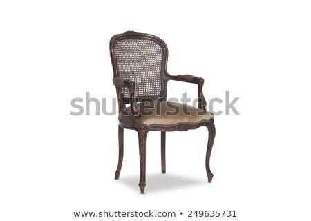 antik · szék · grunge · stílus · klasszikus · fal - stock fotó © stevanovicigor