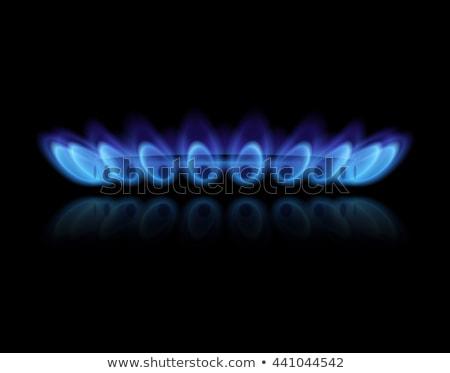 Blue Flames of Gas Stock photo © jamdesign