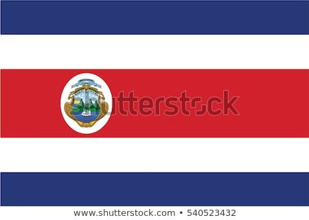 Сток-фото: флаг · Коста-Рика · иллюстрация · сложенный · Мир · металл