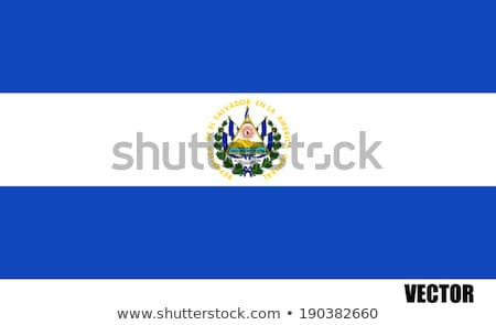 флаг Сальвадор иллюстрация сложенный Мир металл Сток-фото © flogel