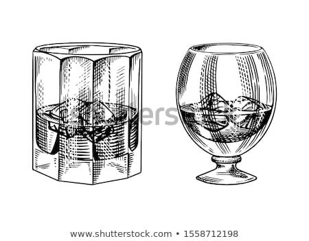 Klasszikus üveg asztal textúra fa Stock fotó © Roka