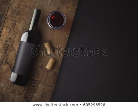 wijn · houten · oppervlak · voedsel · brood · vakantie - stockfoto © taviphoto