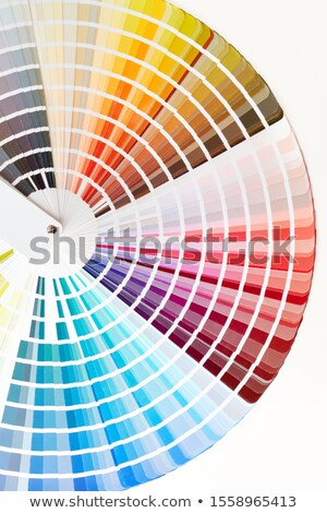 colorful color guide on white background with copy space Stock photo © alexmillos