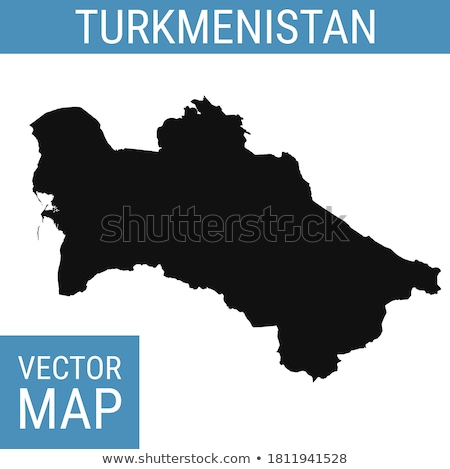Colorful Turkmenistan map Stock photo © Volina
