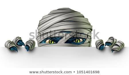 Halloween Zeichen Nachricht Zeichen Kürbis menschlichen Stock foto © Lightsource