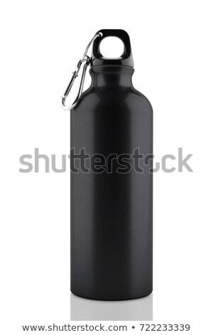preto · garrafa · de · água · metal · turista · tubo · água - foto stock © artlens