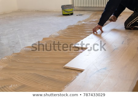colorful wooden floor installation Stock photo © taviphoto