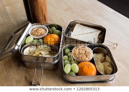 Libre almuerzo negocios conceptos papel signo Foto stock © devon