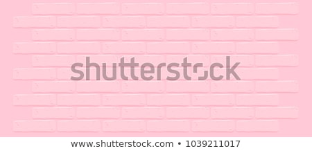 Woman on background of wall from brick Stock photo © vetdoctor