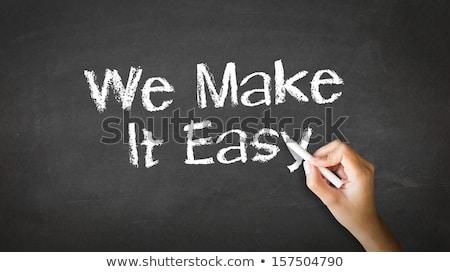 We offer Solutions Chalk Illustration Stock photo © kbuntu