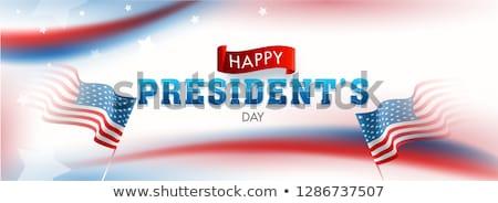 Egyesült Államok Amerika elnök nap színes kék Stock fotó © bharat