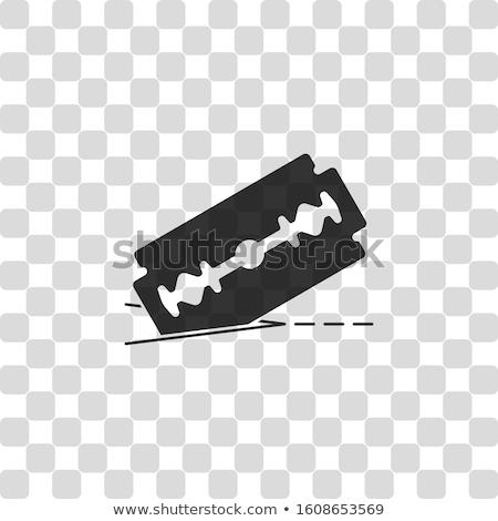Borotva vág papír öreg egyenes fehér Stock fotó © cosma