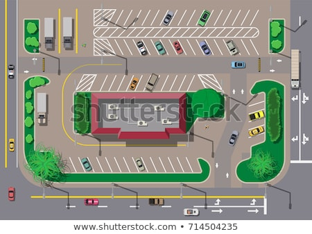 Yol otopark soyut boya arka görmek Stok fotoğraf © meinzahn