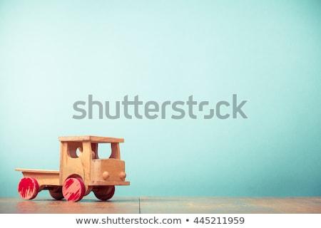 Velho brinquedo de madeira carro escuro noite modelo Foto stock © jonnysek