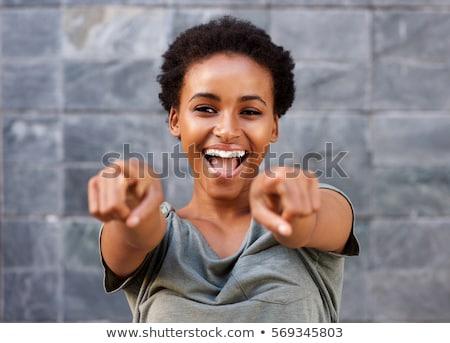 bella · giovani · felice · african · american · donna · fresche - foto d'archivio © dash