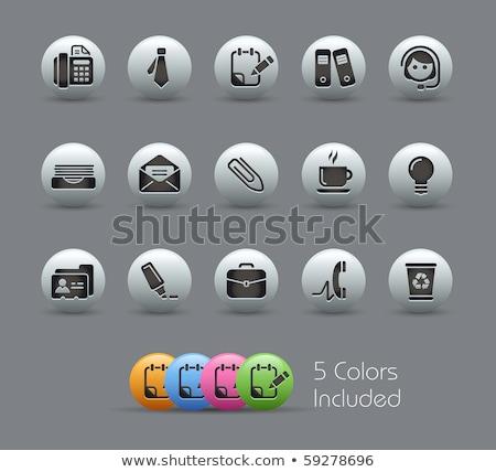 comunicazione · icone · metal · vettore · file · eps - foto d'archivio © nickylarson974