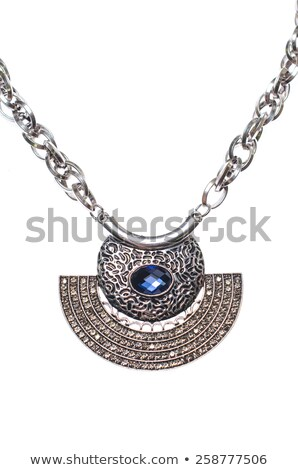 jewelry precious metal pendants and lavalieres with colored gems Stock photo © arlatis