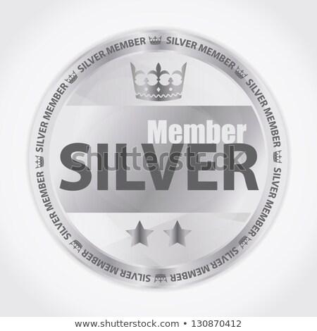 Zilver lid badge koninklijk kroon twee Stockfoto © liliwhite
