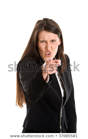 businesswoman scolding somebody stock photo © bmonteny