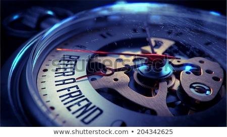 Amigo relógio de bolso cara fechar ver ver Foto stock © tashatuvango